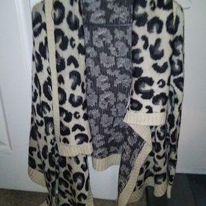 Cheetah Open Sweater
